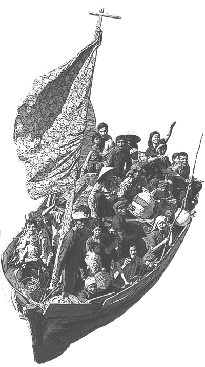 35 Vietnamese boat people light